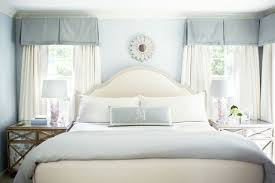 Short Valances Boys Bedroom Using Sleigh Bed And Short Curtains And Box Bedroom