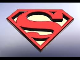 superman logo design with solidworks youtube