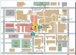 Notre Dame Campus Map Maps And Parking Chrim