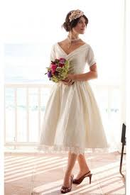 short tea length vintage wedding dress the beverlywood from