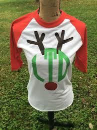 monogram christmas reindeer monogram christmas monogram shirt make it personal by mm