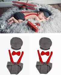 baby boy photo props 2017 new crochet baby boy gentleman set hat bow tie and suspenders