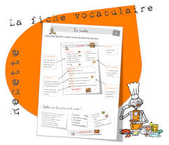 recette de cuisine ce1 vocabulaire la recette bout de gomme