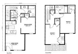 two story apartment floor plans marvellous design 11 simple two story house plans homeca