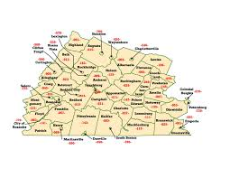 Virginia Area Code Map by Wims County Id Maps