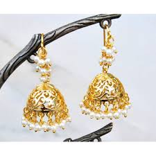 jhumka earrings filigree jhumka earrings with pearls