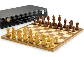 wooden chess set with 3