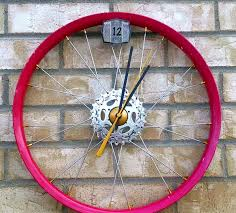impressive unique wall clock recycled pc material white metal hand full size of decoration unique and creative bicycle wheel wall clock recycled bike parts material