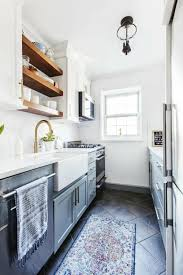 what to do with a small galley kitchen 10 small galley kitchen makeovers simphome