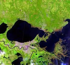 New Orleans Usa Map by Hurricane Katrina New Orleans Louisiana Usa Earthshots