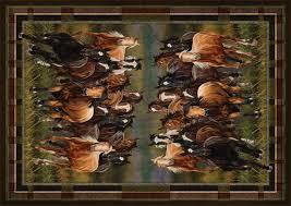 Western Throw Rugs Horse Area Rugs Cievi U2013 Home