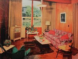 1950s interior design 1950s tv room patterned couch vintage interior design phot flickr