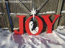 Nativity Outdoor Decorations Wooden Christmas U0026 Winter Yard Décor Ebay