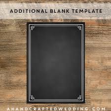 chalkboard wedding program template 6 best images of blank wedding program templates catholic