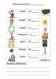 rhyming sentence worksheets releaseboard free printable