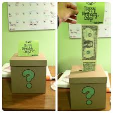 a gift for my boyfriend u0027s brother a box with dollar bills taped