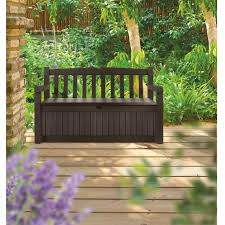 Poly Resin Outdoor Benches Outdoor Resin Wicker Storage Bench