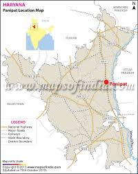 India Physical Map by Panipat Location Map Where Is Panipat