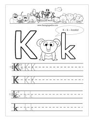 handwriting worksheet for kindergarten koogra