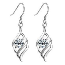 cheap earrings ms silver 925 sterling silver platinum plating jewelry angel