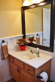 Mirror In A Bathroom Add Board And Batten To Beautify A Bathroom Sand And Sisal