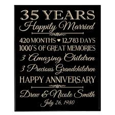 35th wedding anniversary gifts 35th wedding anniversary wall plaque personalized 35th wedding