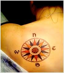 cool image of compass tattoo designs