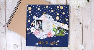 scrapbook for wedding how to make a wedding scrapbook page hobbycraft
