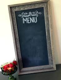 distressed framed chalkboard home decor wall mail organizer