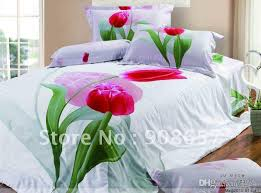 Cheap Full Bedding Sets by 2017 Bed Sheets Queen Full Bedding Sets Satin Fabric Red Tulip