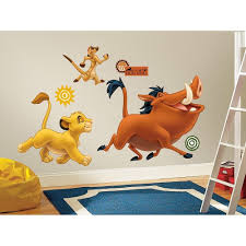 lion king giant popular lion king wall decals home design ideas