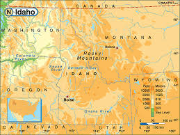 physical map of idaho idaho physical map by maps from maps world s largest