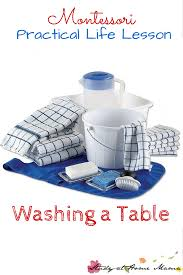 Table Setting Healthy Beginnings Montessori by Table Scrubbing Activity Montessori Pinterest Activities