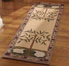 Primitive Country Area Rugs Wool Blend Country Area Rugs Ebay