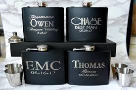 and groom flasks personalized groomsmen gift flask set groom flask custom