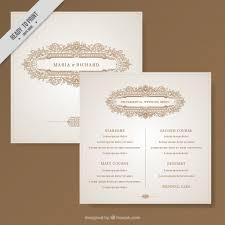 Beautiful Wedding Invitations Beautiful Wedding Invitation Decorated With Elegant Ornaments
