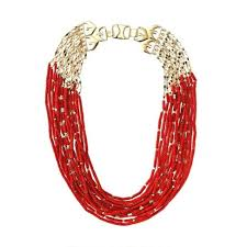 red necklace statement images Fashion red plexiglass multilayer all match statement necklace for jpg