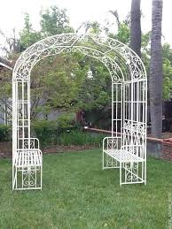 wedding arches perth wedding arch garden arbor bench shabby wrought iron metal