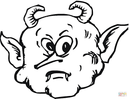 scary face of a demon coloring page free printable coloring pages