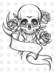 skull ribbon skull and ribbon drawings skull ribbon and roses tattoo