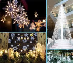 eve drop christmas lights snow shape led curtain string 3m 96leds 16 drop lines fairy light