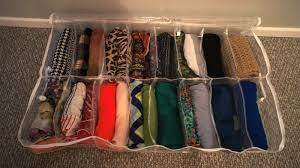 food fashion home scarf organizer four methods