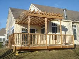 Deck With Pergola by Modern Decoration Pergola On Deck Agreeable 1000 Ideas About Deck
