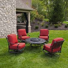 patio furniture fire pit table set home design