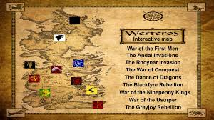Map Westeros Westeros Lore Interactive Map Youtube