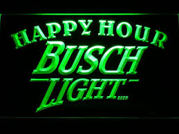 busch light neon sign busch light beer happy hour bar led sign vintagily