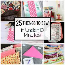 25 things to sew in under 10 minutes simple projects sewing