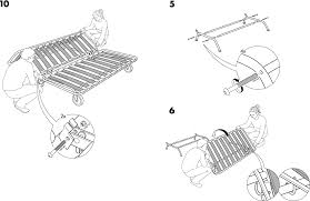 IKEA Chairs IKEA PS SOFA BED FRAME PDF Assembly Instruction Free - Sofa bed assembly