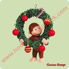 2004 monkey see curious george hallmark ornament