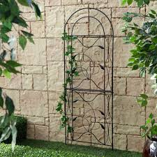 outdoor yard decor garden trellis coral coast willow creek metal